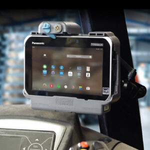 vehicle dock with portreplicator and charger for rugged android 10 tablet FZ-G1