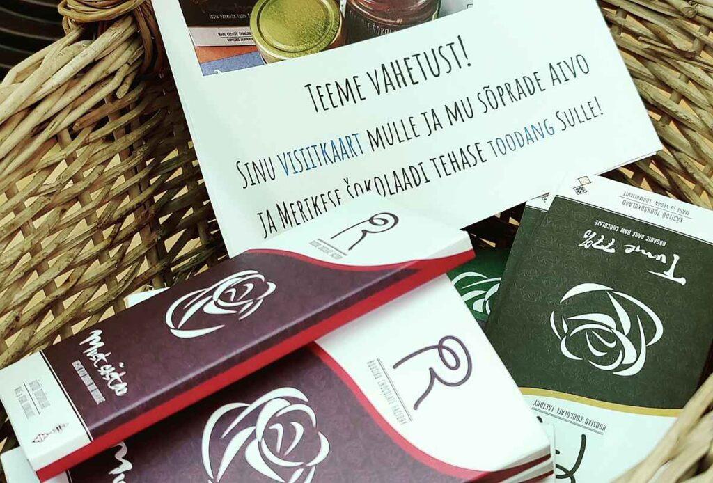 Roosiku šokolaad tarneahelakonverents eksponentalal visiitkaardi mängus